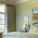 Светлый зеленый цвет для спальни