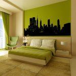 Свежесть зеленой спальни