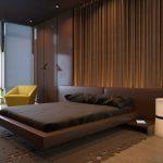Темная коричневая спальня