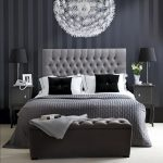 Темные оттенки серого для офомления интерьера спальни