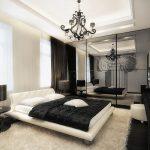 Темные цвета в интерьере спальни в стиле модерн