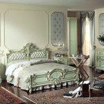 Утонченная спальня, выдеражання в стиле барокко