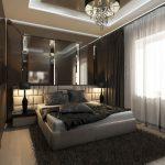 Уютная коричневая спальня