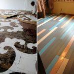 Варианты как покрасить в спальне пол