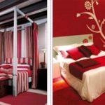Варианты красной спальни