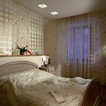 Вариант комбинированного освещения в спальне
