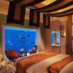 Встроенный аквариум для спальни