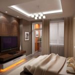 Выбираем место под телевизор в спальню правильно