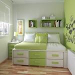 Выбираем оттенок зеленого для оформления интерьера спальни