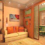 Выбираем тип перегородки для функциональных зон в спальне