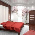 Японский интерьер спальни