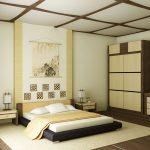 Японский стиль для оформления спальни