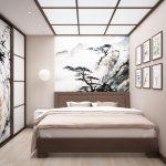 Японский стиль интерьера для спальни
