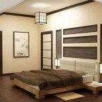 Японский стиль оформленный в спальне