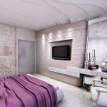Яркий интерьер стиля хай-тек в спальне