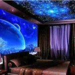 Яркое крсивое звездное небо для интерьера спальни