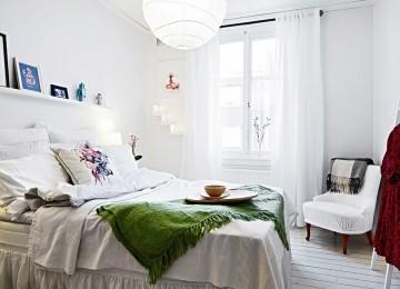 Яркость и красота спальни, созданной в скандинавском стиле
