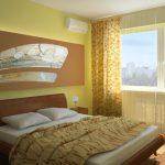 Желтая спальня придает хорошее настроение