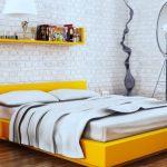 Желтый цвет для оформления спальни
