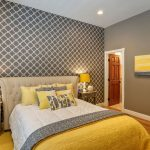 Желтый цвет для современной спальни