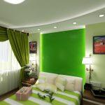 Зеленый цвет для создания спальни