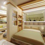 Зонирование спальни для разных целей