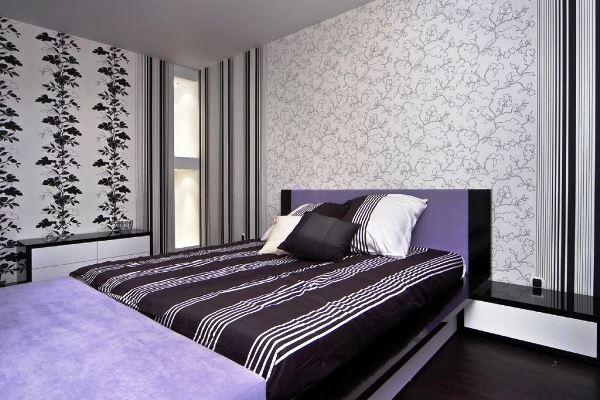 Какие лучше поклеить обои двух видов в спальне для создания неповторимого интерьера