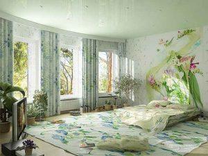 Интерьер спальни в бежевых тонах фото