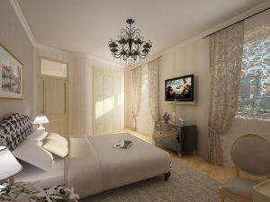 Красивый и качественный ремонт спальни