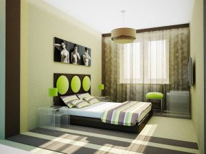 Недорогой ремонт спальни своими руками в стиле модерн
