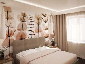 Спальня 9 кв. м. - фото дизайна