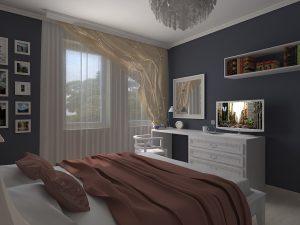 ремонт спальня 12 метров фото