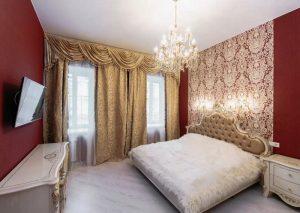 Роскошный дизайн спальни 10 кв м