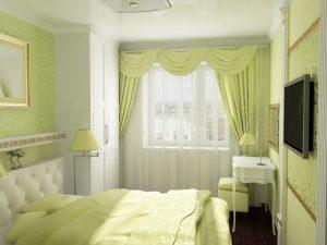 Комната в светло зеленом тоне