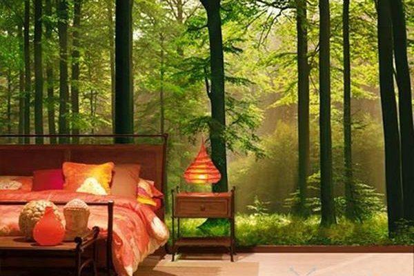Фото дизайн обоев в спальню