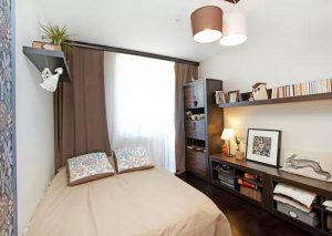 Спальня с бежевым оформлением