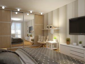 Вместительный шкаф для спальни