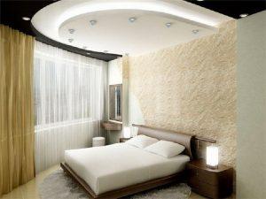 Спальня 10 кв м с натяжным потолком