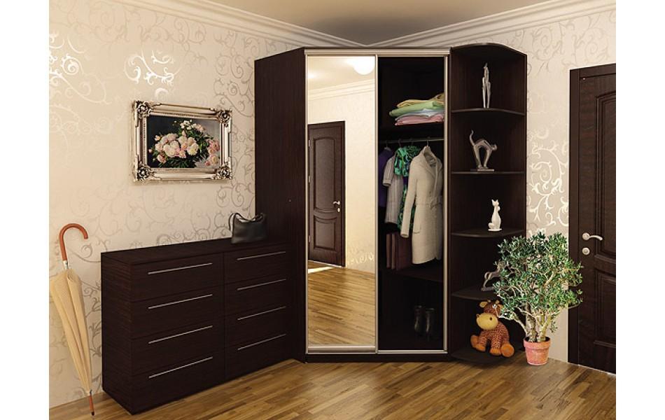 Угловой шкаф купе в спальню, фото популярных моделей и реком.