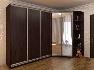 Шкаф на короткую сторону комнаты