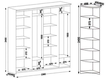 Мебель для спальни с чертежами 49
