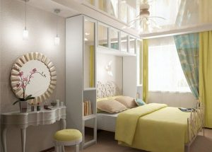 Встроенная кровать в спальне