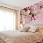 Фотообои над кроватью для спальни, фото вариантов исполнения