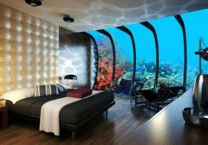 Аквариум в дизайне интерьера спальни
