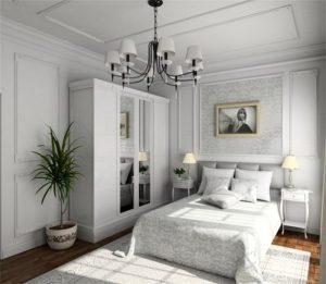 Белый тон для офорлмения спальни