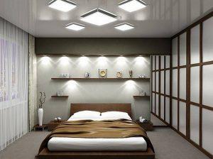 Декоративное комбинированное освещение для организации спальни