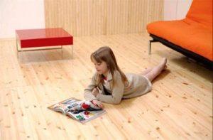 Деревянный практичный противоскользящий пол для спальни
