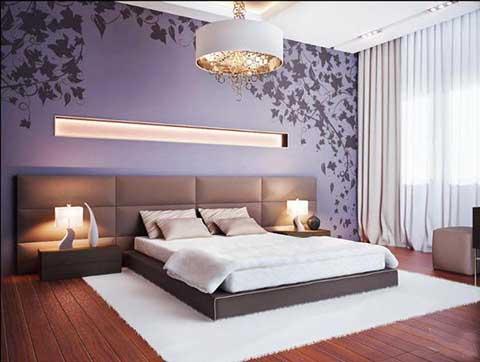 Функциональная спальня, оформленная в стиле модерн