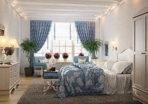 Использование цветов в спальне