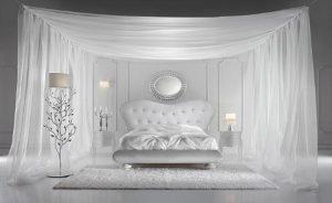 Как оформить белую спальню